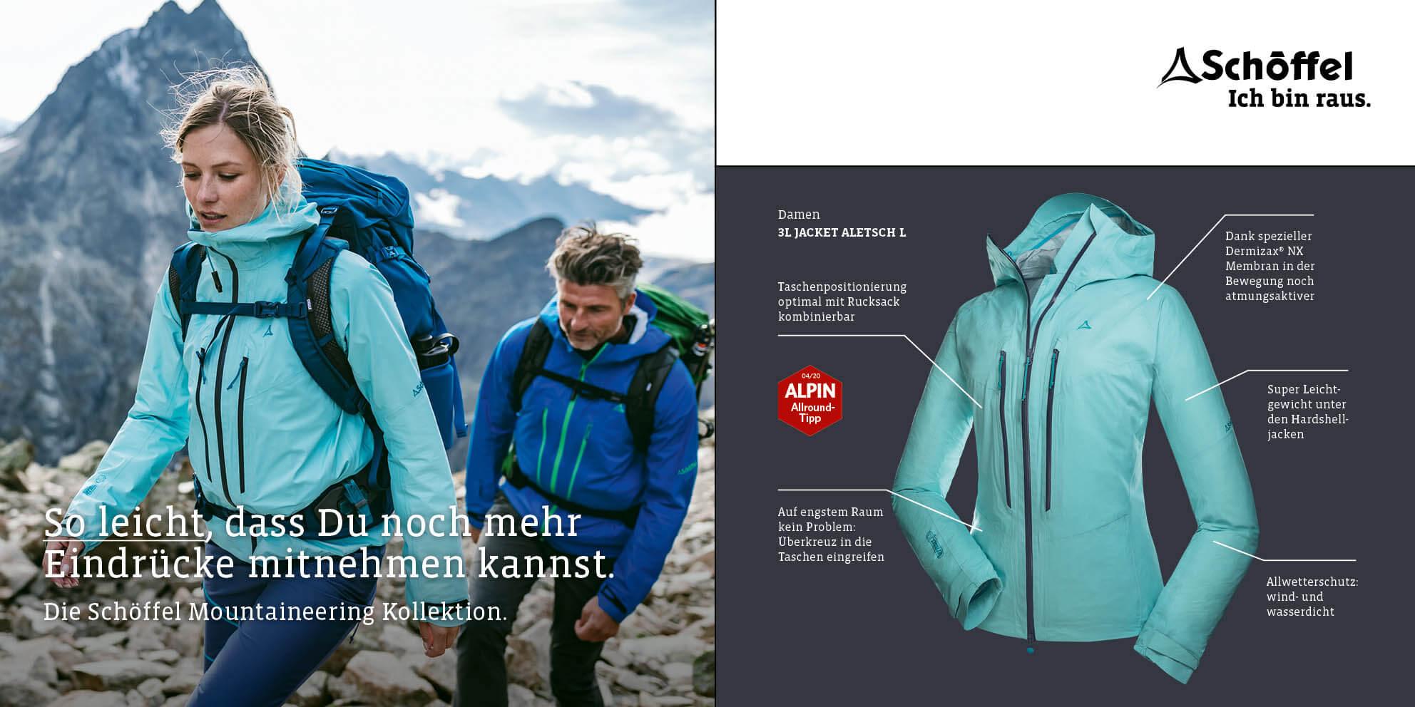 Schöffel Damen 3L Jacket Aletsch L Bekleidung World of Outdoor Sonthofen Allgäu