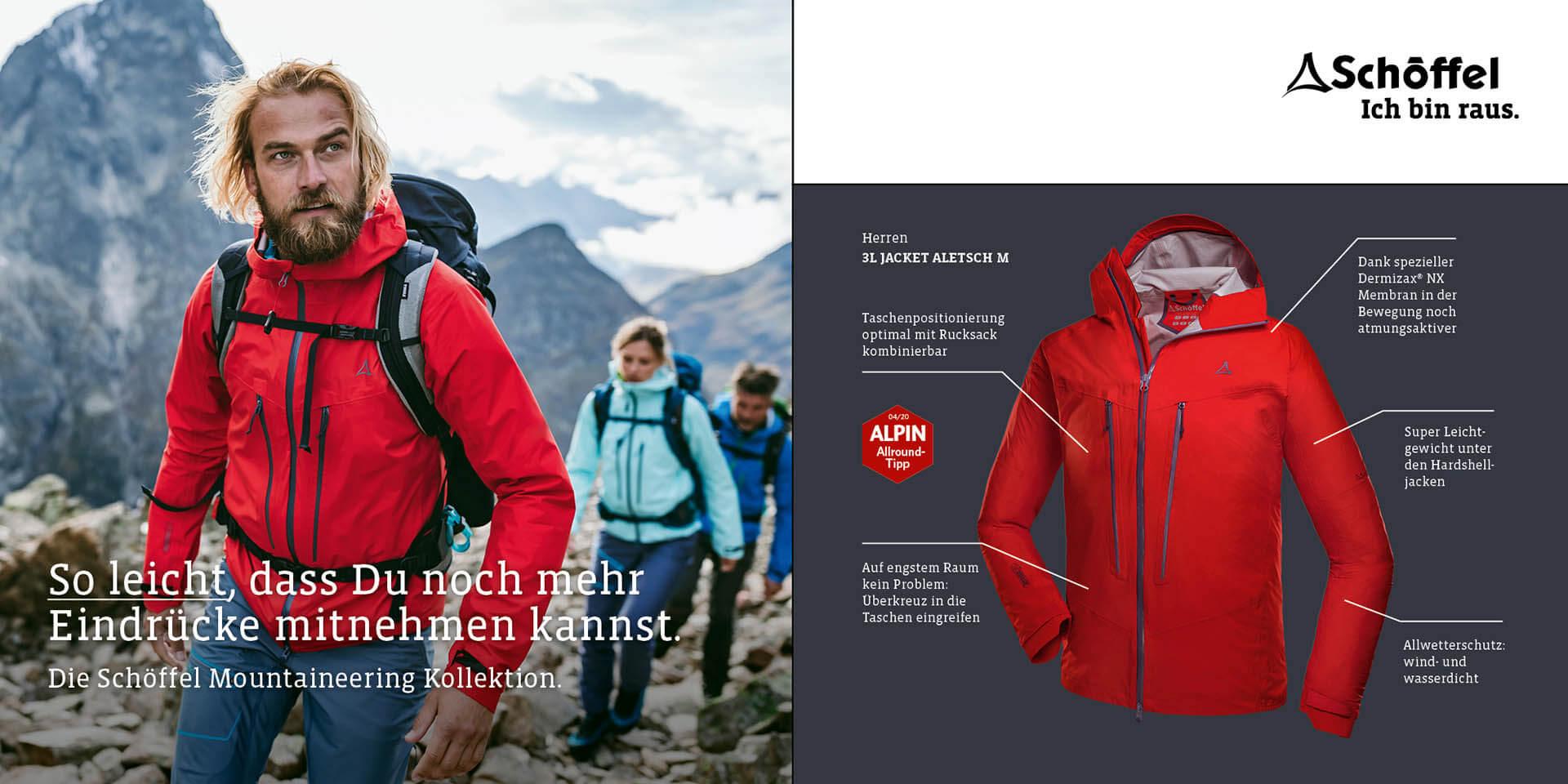 Schöffel Herren 3L Jacket Aletsch M Bekleidung World of Outdoor Sonthofen Allgäu